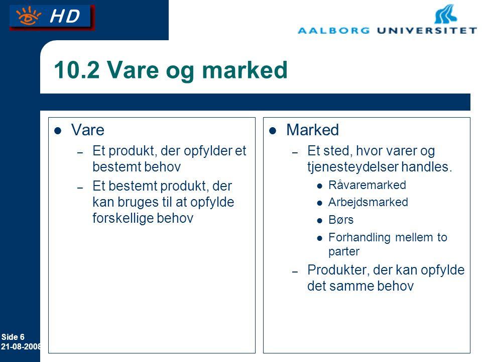 10.2 Vare og marked Vare Marked