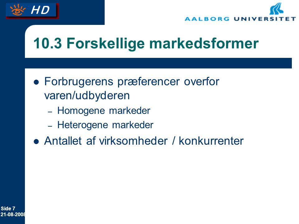 10.3 Forskellige markedsformer