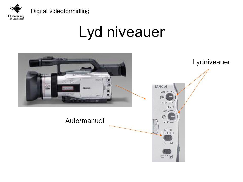 Lyd niveauer Lydniveauer Auto/manuel