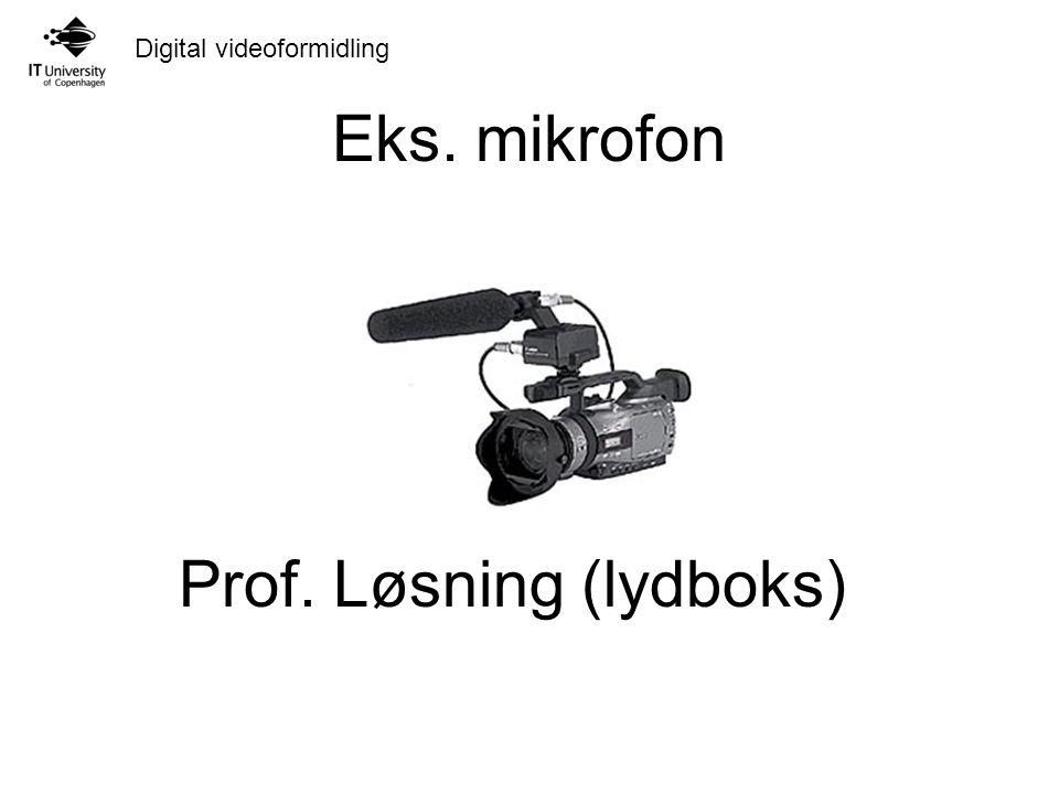 Eks. mikrofon Prof. Løsning (lydboks)