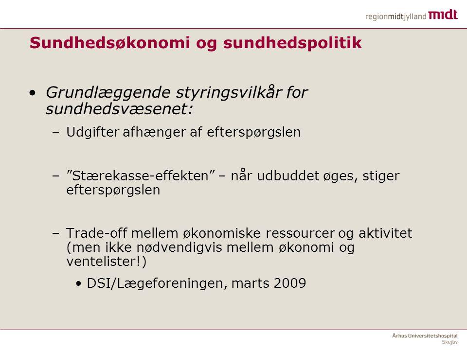 Sundhedsøkonomi og sundhedspolitik