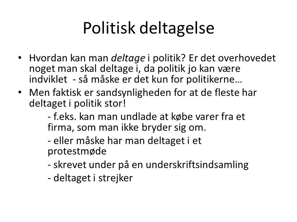 Politisk deltagelse