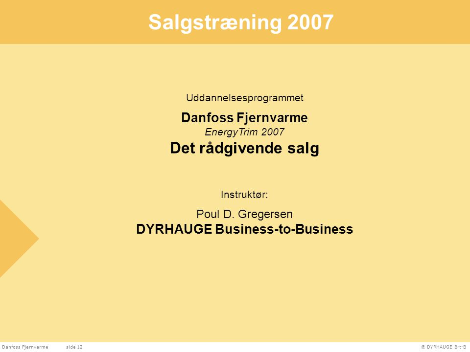 DYRHAUGE Business-to-Business