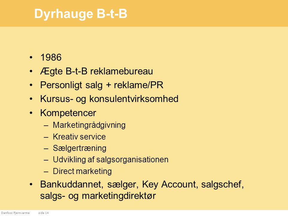 Dyrhauge B-t-B 1986 Ægte B-t-B reklamebureau