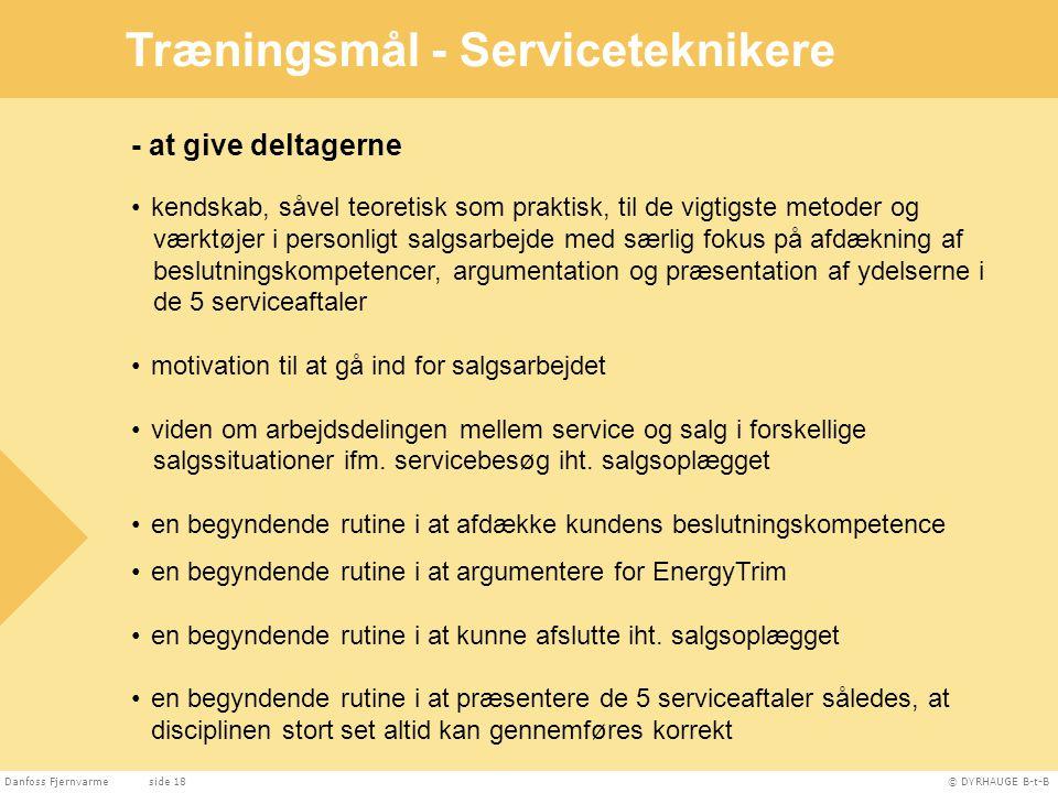 Træningsmål - Serviceteknikere