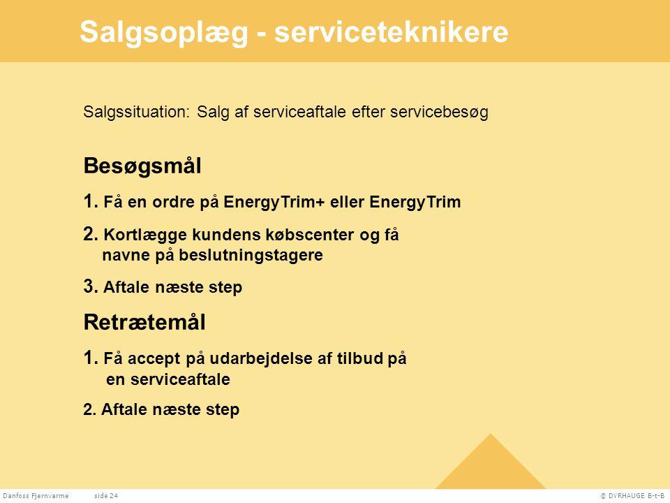 Salgsoplæg - serviceteknikere