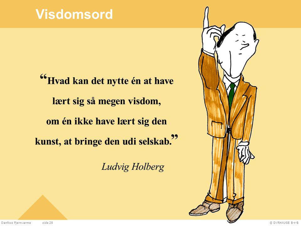 Visdomsord Visdomsord Danfoss Fjernvarme side 28 DYRHAUGE B-t-B 28