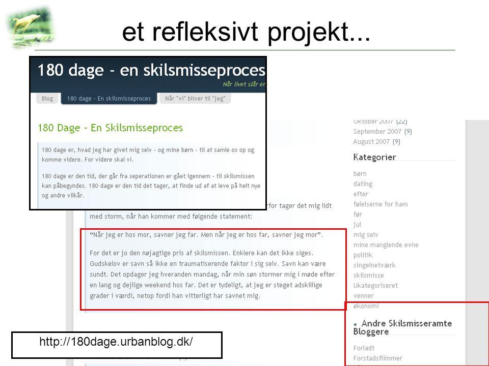 et refleksivt projekt... http://180dage.urbanblog.dk/