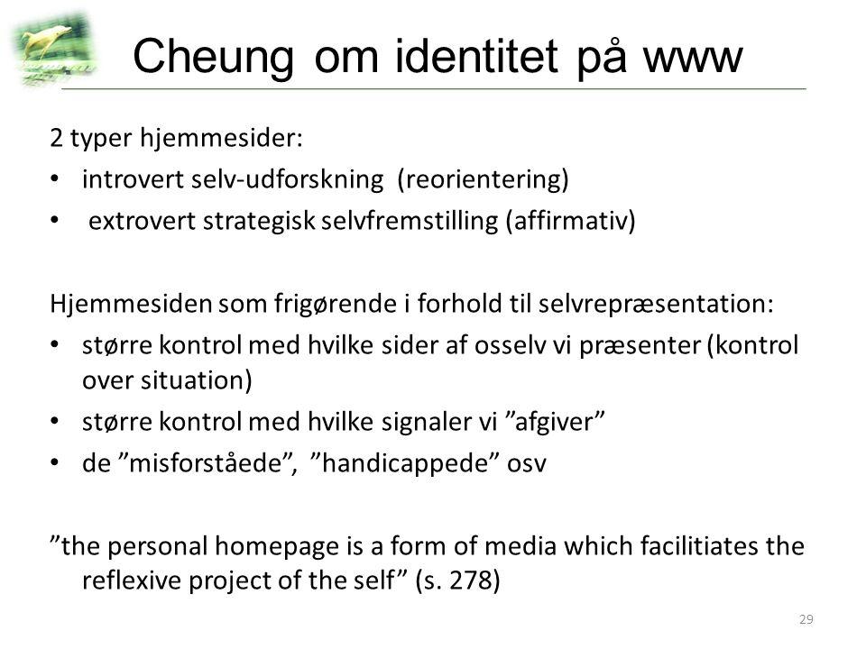 Cheung om identitet på www