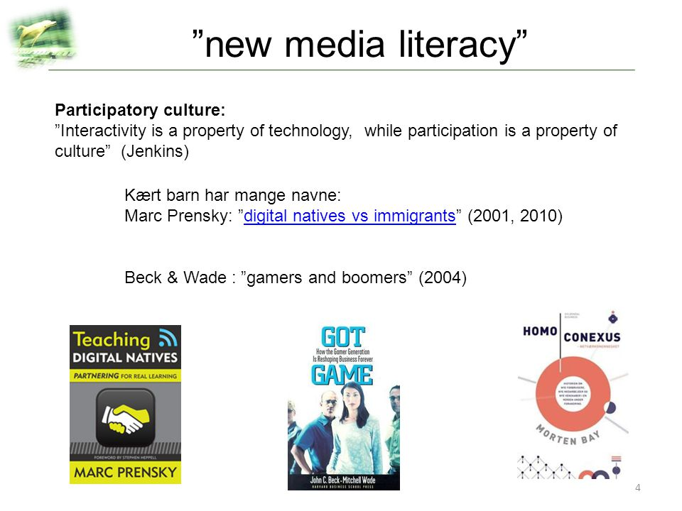 new media literacy Participatory culture: