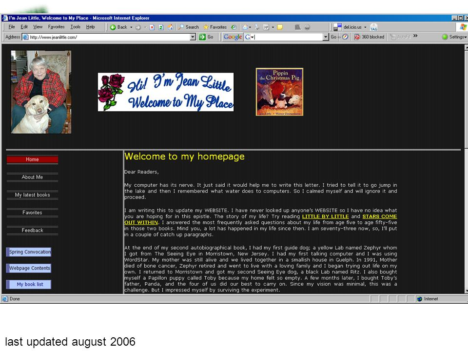 last updated august 2006