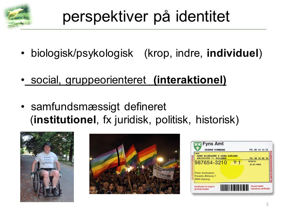 perspektiver på identitet