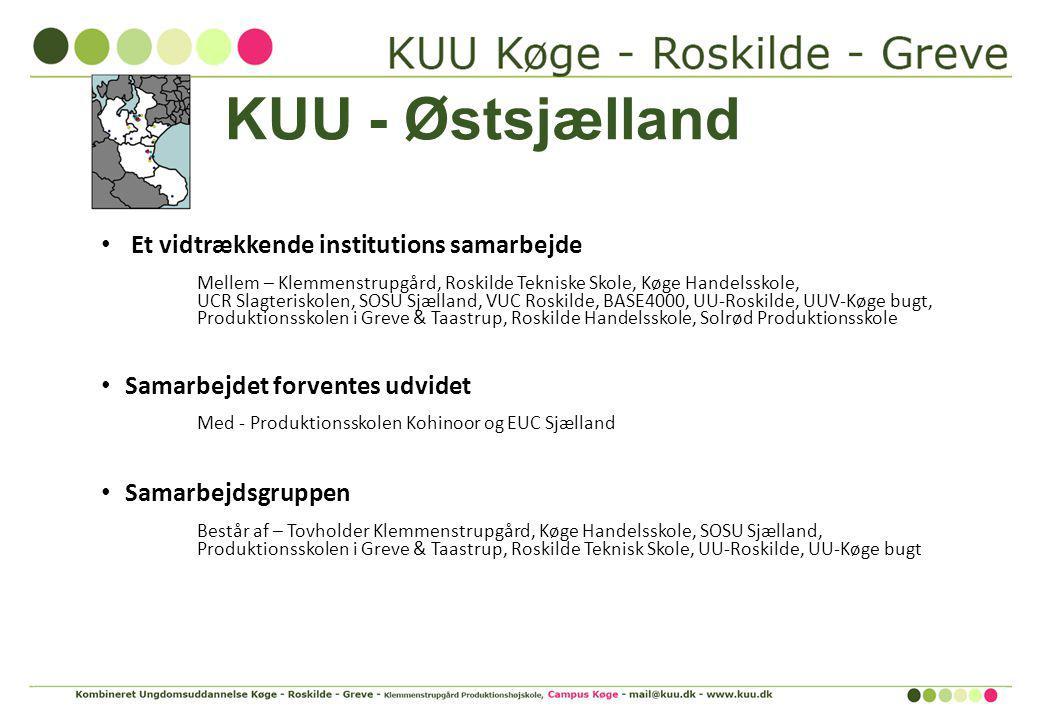 KUU - Østsjælland Et vidtrækkende institutions samarbejde
