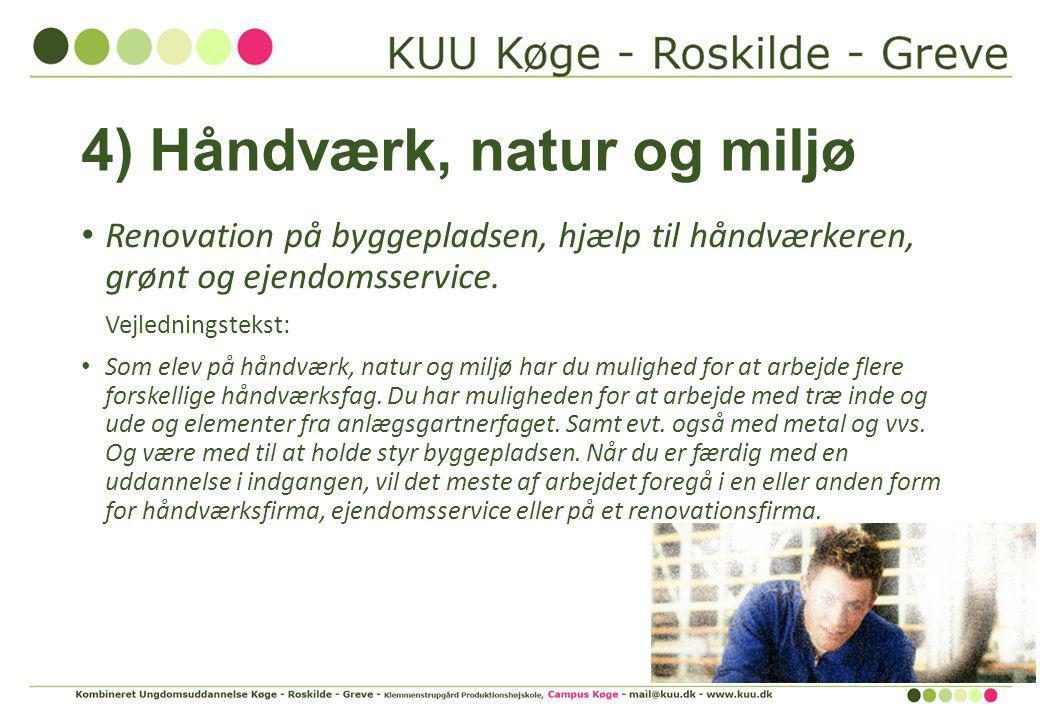 4) Håndværk, natur og miljø