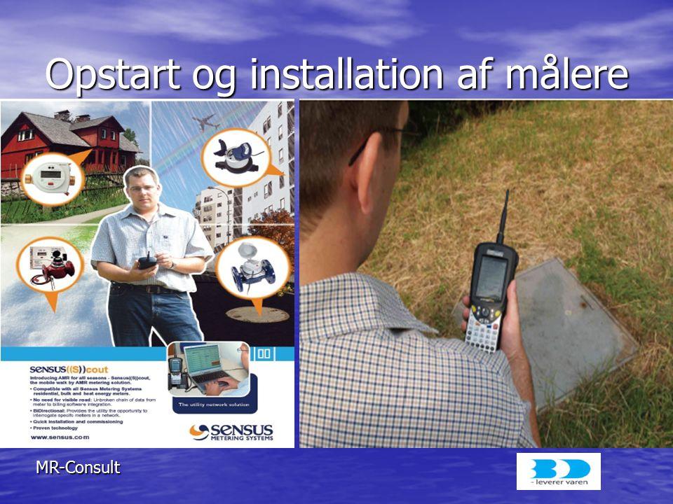 Opstart og installation af målere