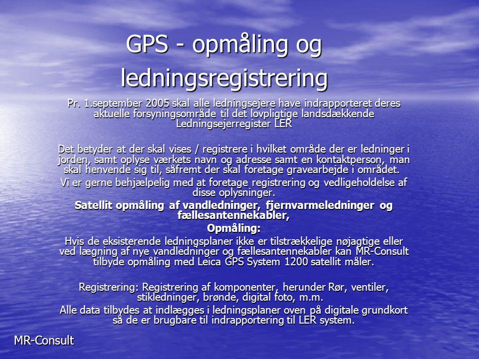 GPS - opmåling og ledningsregistrering