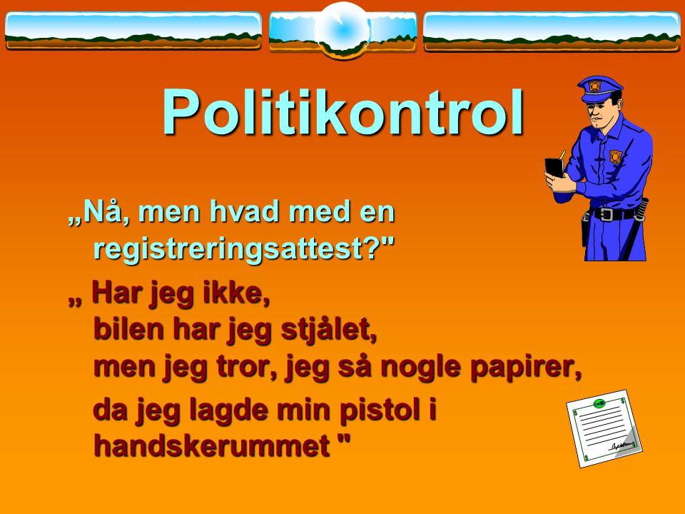 "Politikontrol ""Nå, men hvad med en registreringsattest"