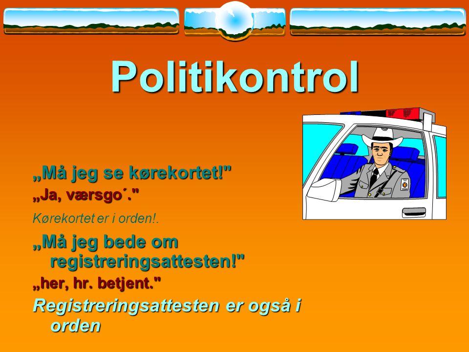 """Politikontrol """"Må jeg se kørekortet!"""