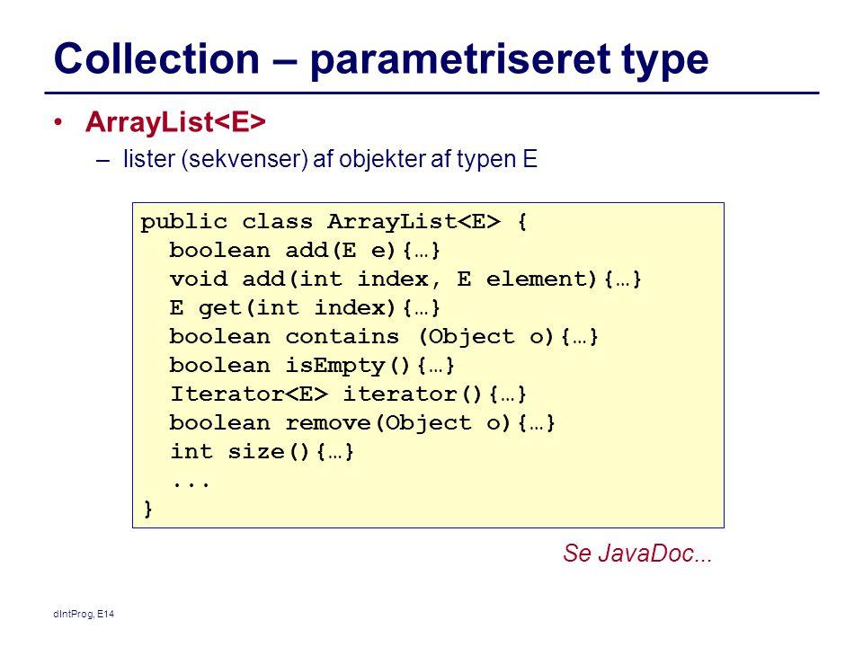 Collection – parametriseret type