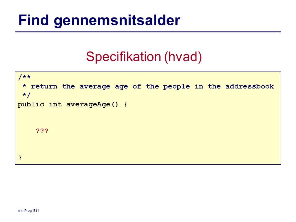 Find gennemsnitsalder