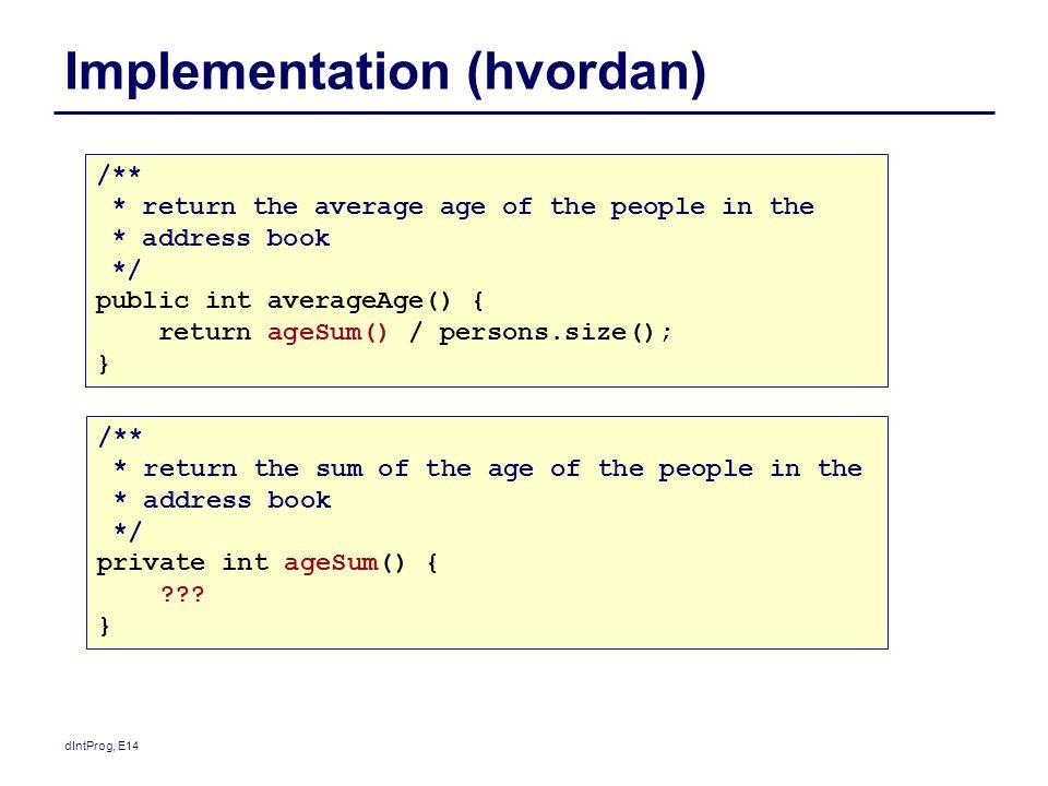 Implementation (hvordan)