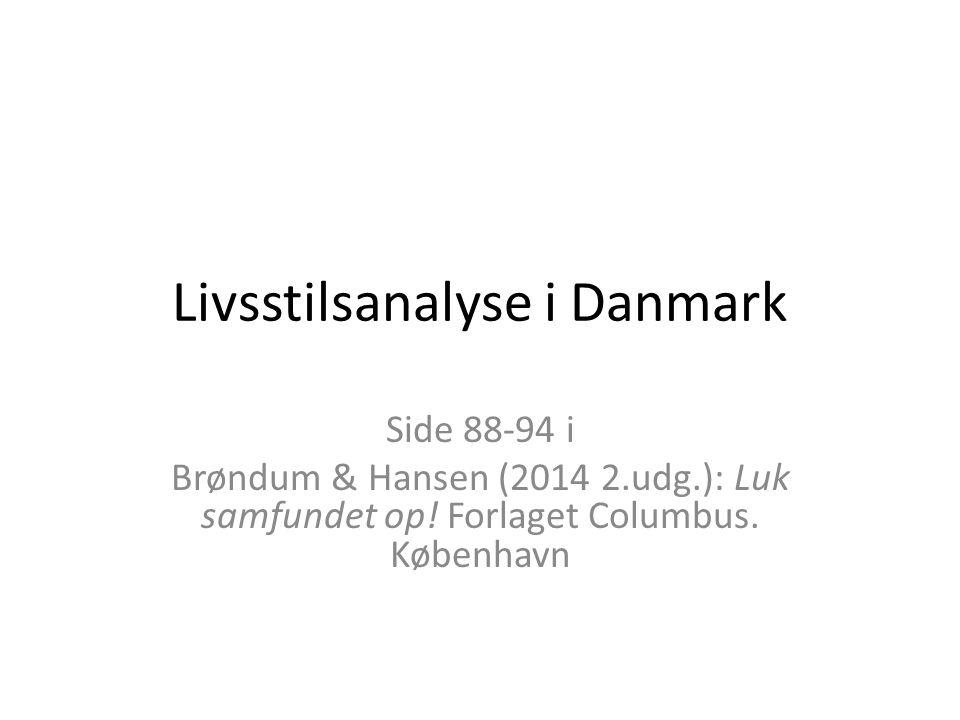 Livsstilsanalyse i Danmark