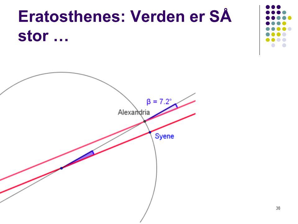 Eratosthenes: Verden er SÅ stor …