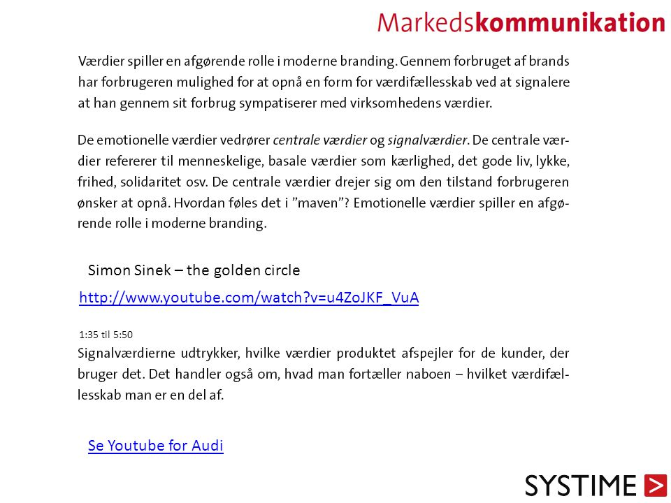 Simon Sinek – the golden circle