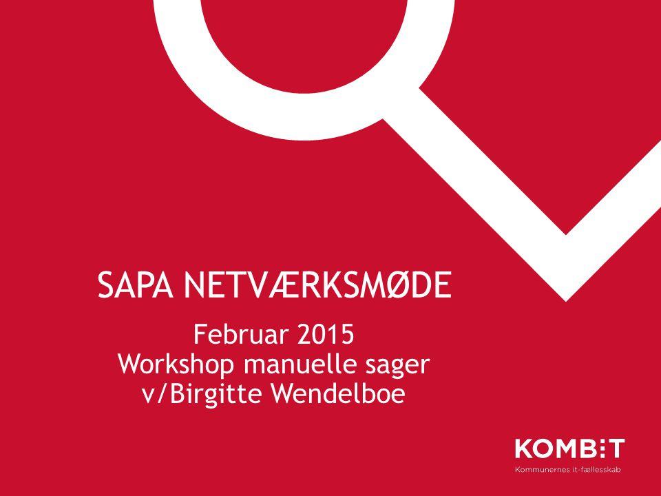 Februar 2015 Workshop manuelle sager v/Birgitte Wendelboe