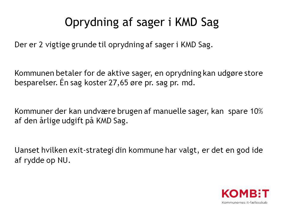 Oprydning af sager i KMD Sag