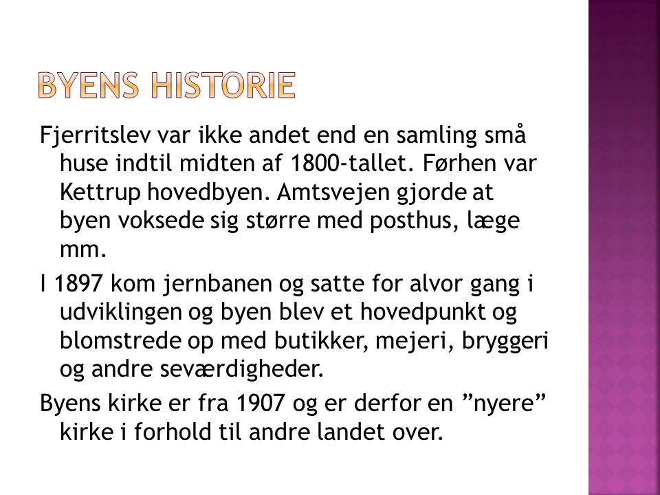 Byens historie