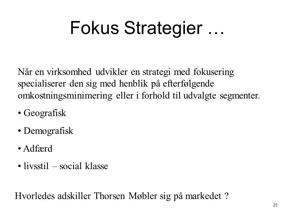 Fokus Strategier …