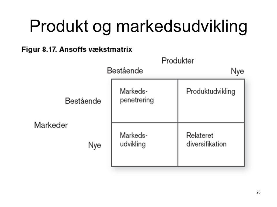 Produkt og markedsudvikling