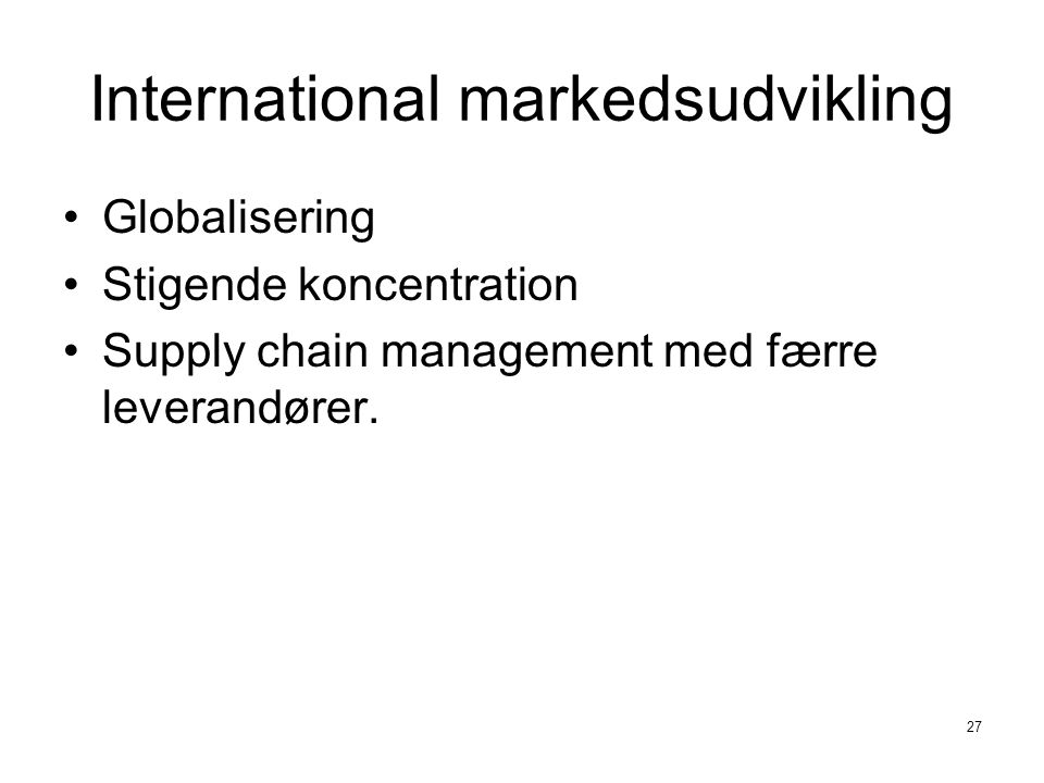 International markedsudvikling
