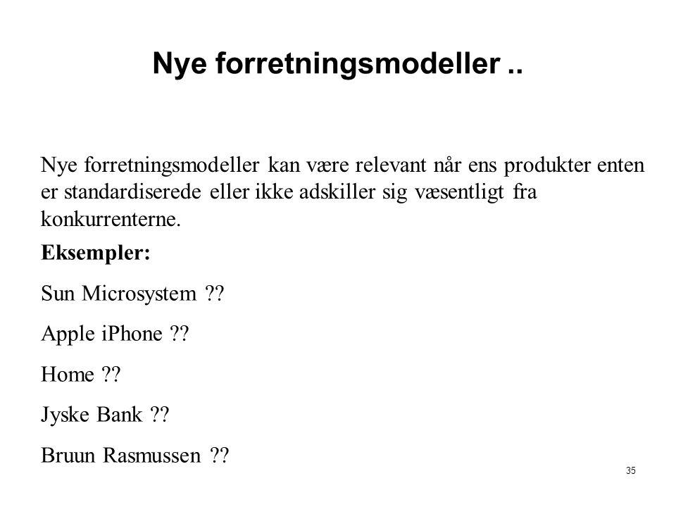 Nye forretningsmodeller ..