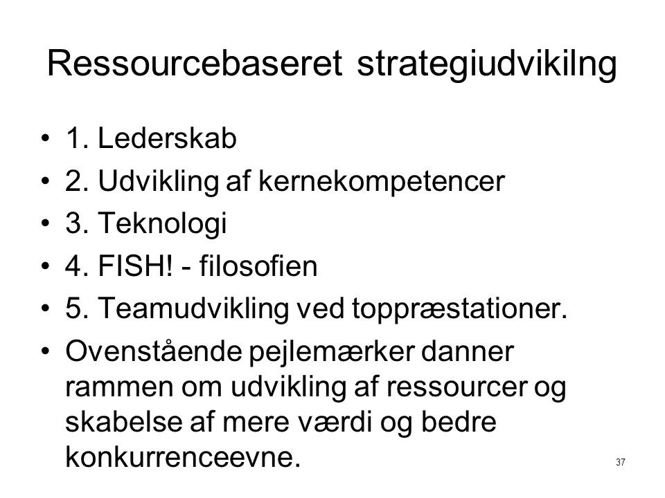 Ressourcebaseret strategiudvikilng