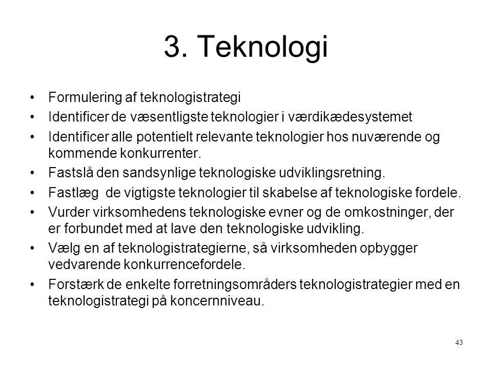 3. Teknologi Formulering af teknologistrategi