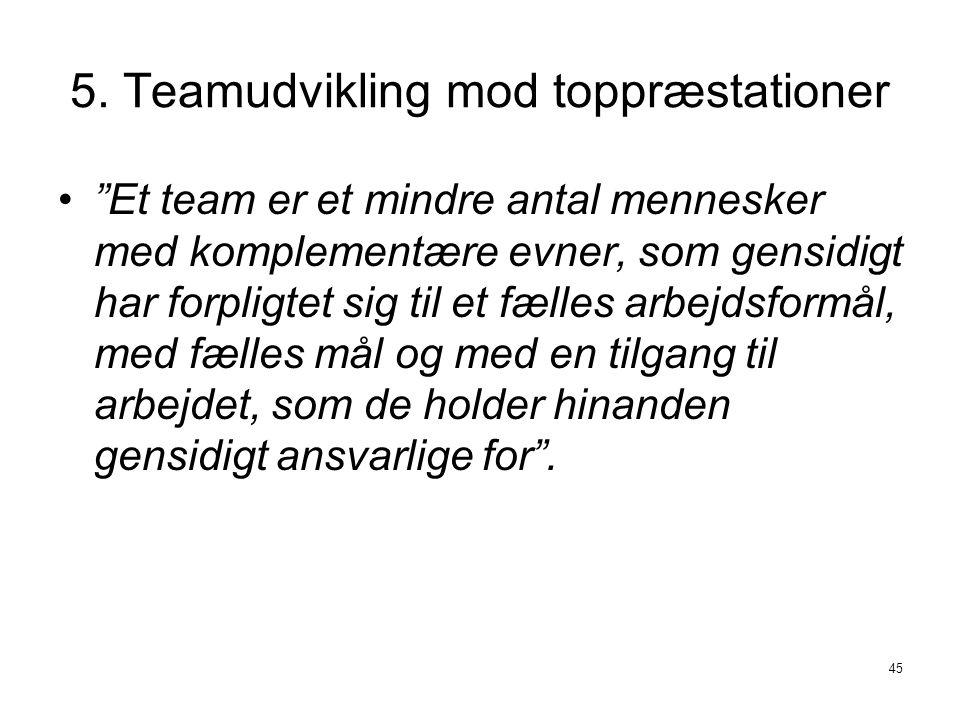 5. Teamudvikling mod toppræstationer