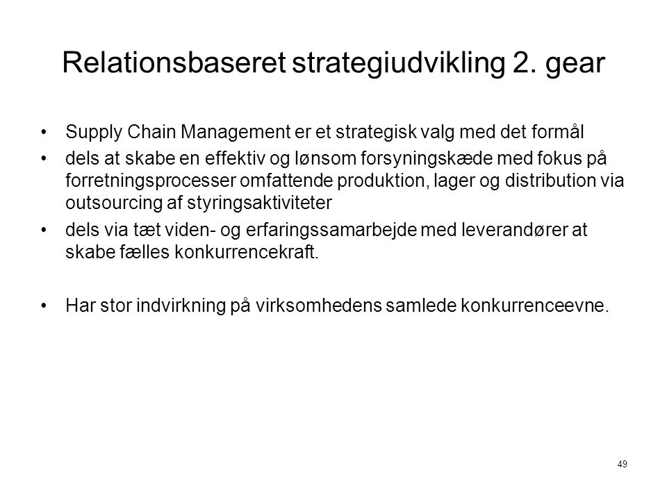 Relationsbaseret strategiudvikling 2. gear