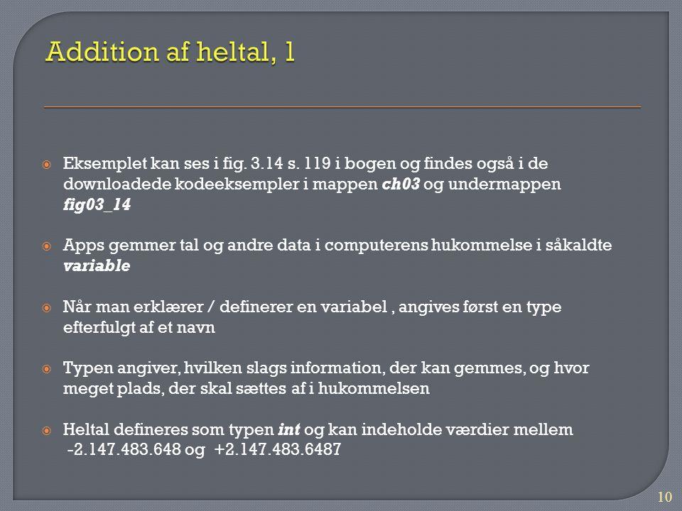 Addition af heltal, 1