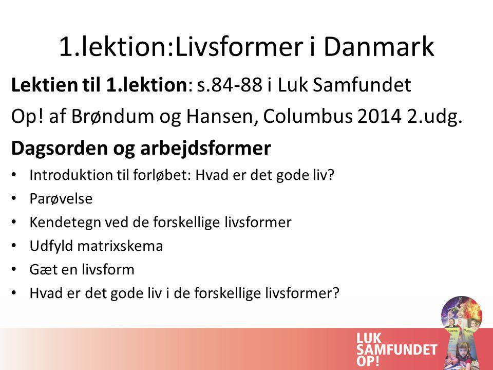 1.lektion:Livsformer i Danmark