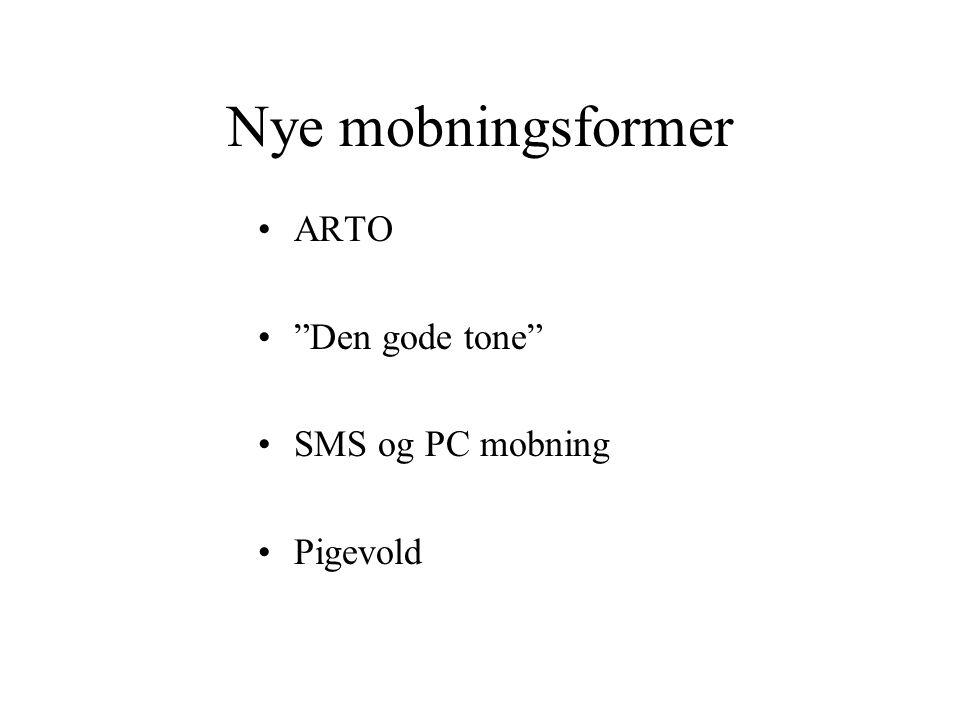Nye mobningsformer ARTO Den gode tone SMS og PC mobning Pigevold