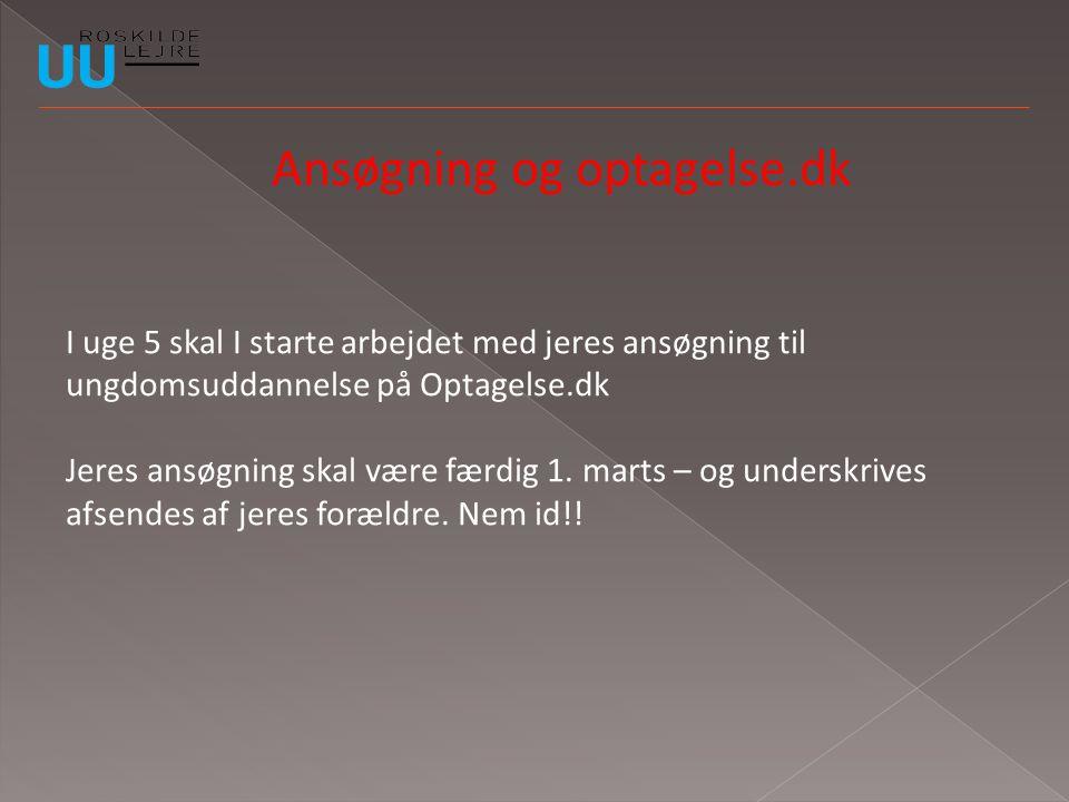Ansøgning og optagelse.dk