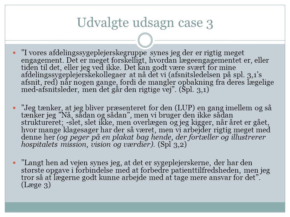 Udvalgte udsagn case 3