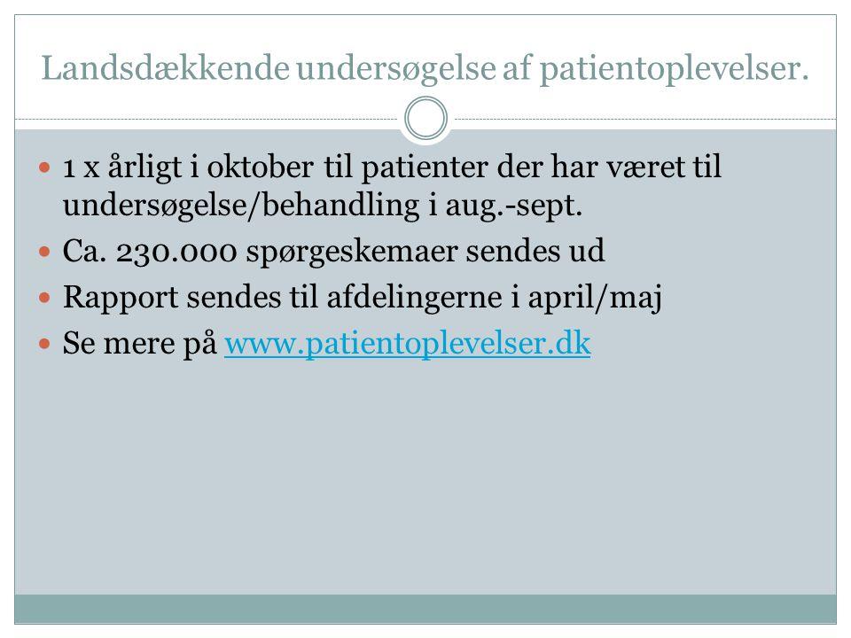 Landsdækkende undersøgelse af patientoplevelser.