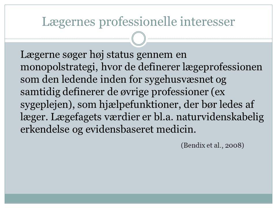Lægernes professionelle interesser