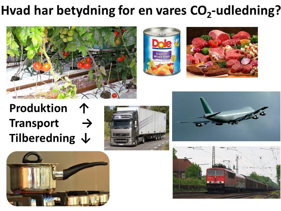 Hvad har betydning for en vares CO2-udledning