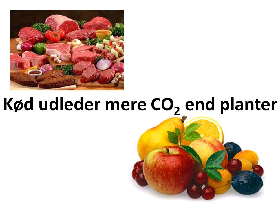Kød udleder mere CO2 end planter
