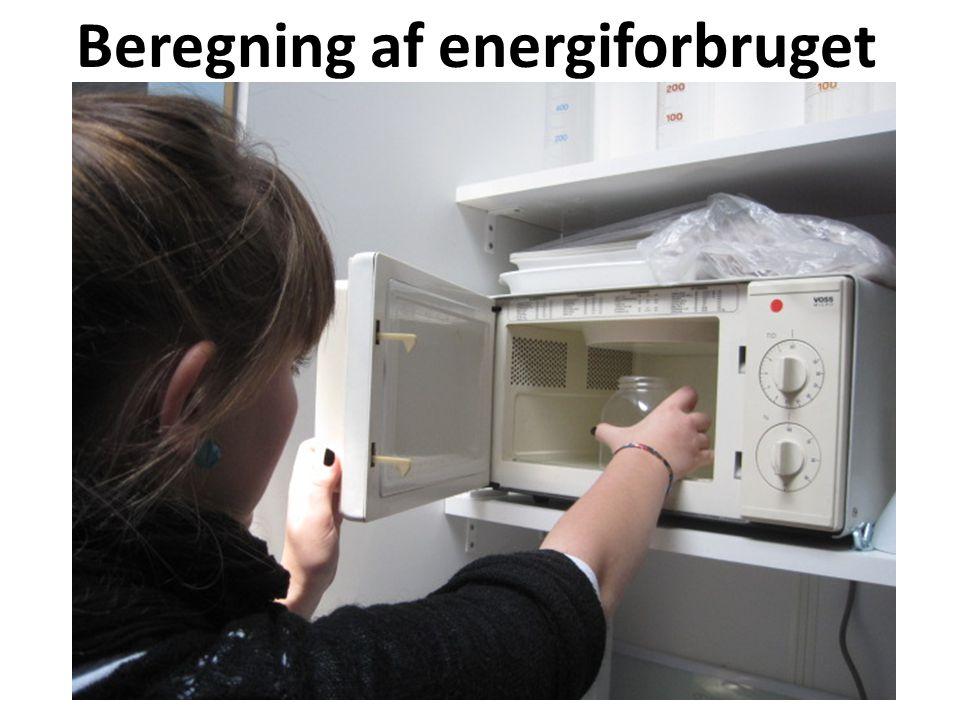 Beregning af energiforbruget