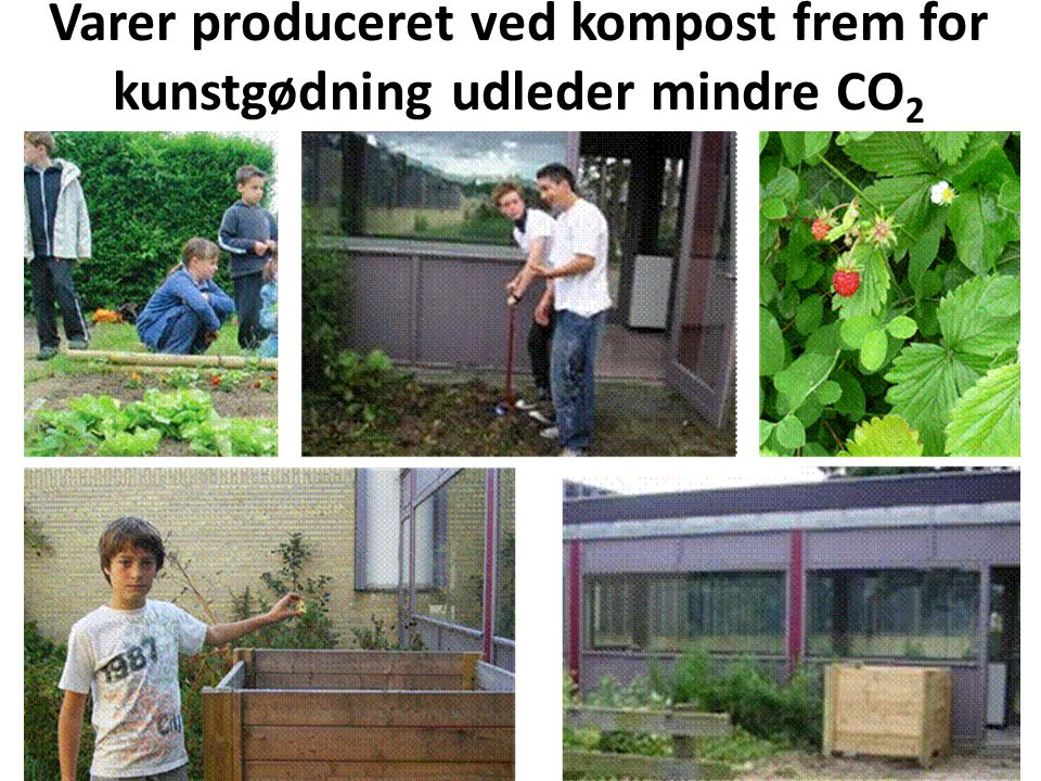 Varer produceret ved kompost frem for kunstgødning udleder mindre CO2